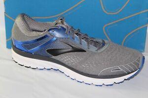 Brooks-Adrenaline-GTS-18-Para-hombres-Zapatos-Deportivos-carretera-Gris-Azul-Negro-110271-1D-015