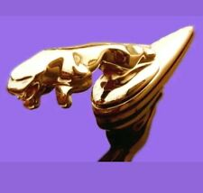 GOLD PLATED JAGUAR LEAPING CAT METAL BONNET HOOD EMBLEM BADGE for XF XK XJR J