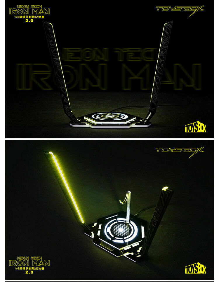 1 6 Toy-Box TB078 LED Light Iron Man Legacy 2.0 Platform 12'' Figure Scene Site