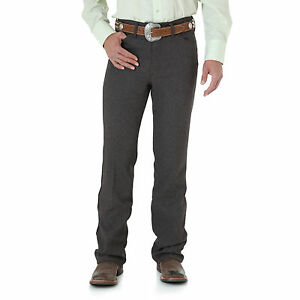 Mens-Wrangler-Wrancher-Dress-Western-Cowboy-Fits-Over-Boots-Jean-Dark-Chocolate