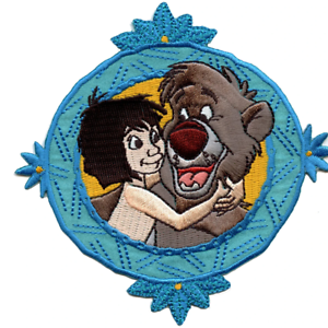 Disney Jungle Book Baloo And Mowgli Embroidered Applique Iron On Patch