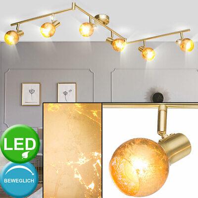 LED Decken Strahler Rondell Lampe Alt Messing Arbeits Zimmer