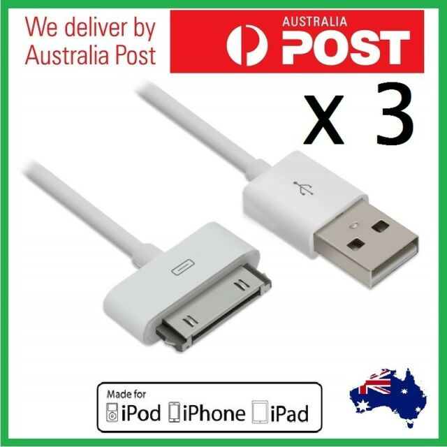 3pc USB Sync Cable Charger for Apple iPhone 4 4S 3 iPod Touch iPad 2/3 Data Cord