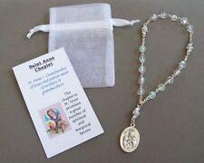 SAINT St. Anne CHAPLET w/ Prayer Card ~ 3 pc