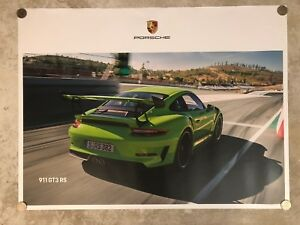 2018-Porsche-911-GT3-RS-Coupe-Showroom-Advertising-Poster-RARE-Awesome-L-K