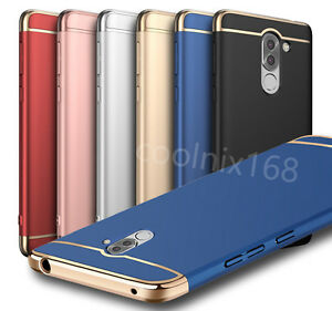 Huawei honor 6x luxe placage d 39 or bumper mat pc coque for Housse honor 6x