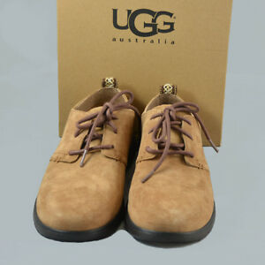 33543b41df4 Details about UGG Bowmore Mens Suede Shoes Lace Up Beige Size 7 New in Box  1006692