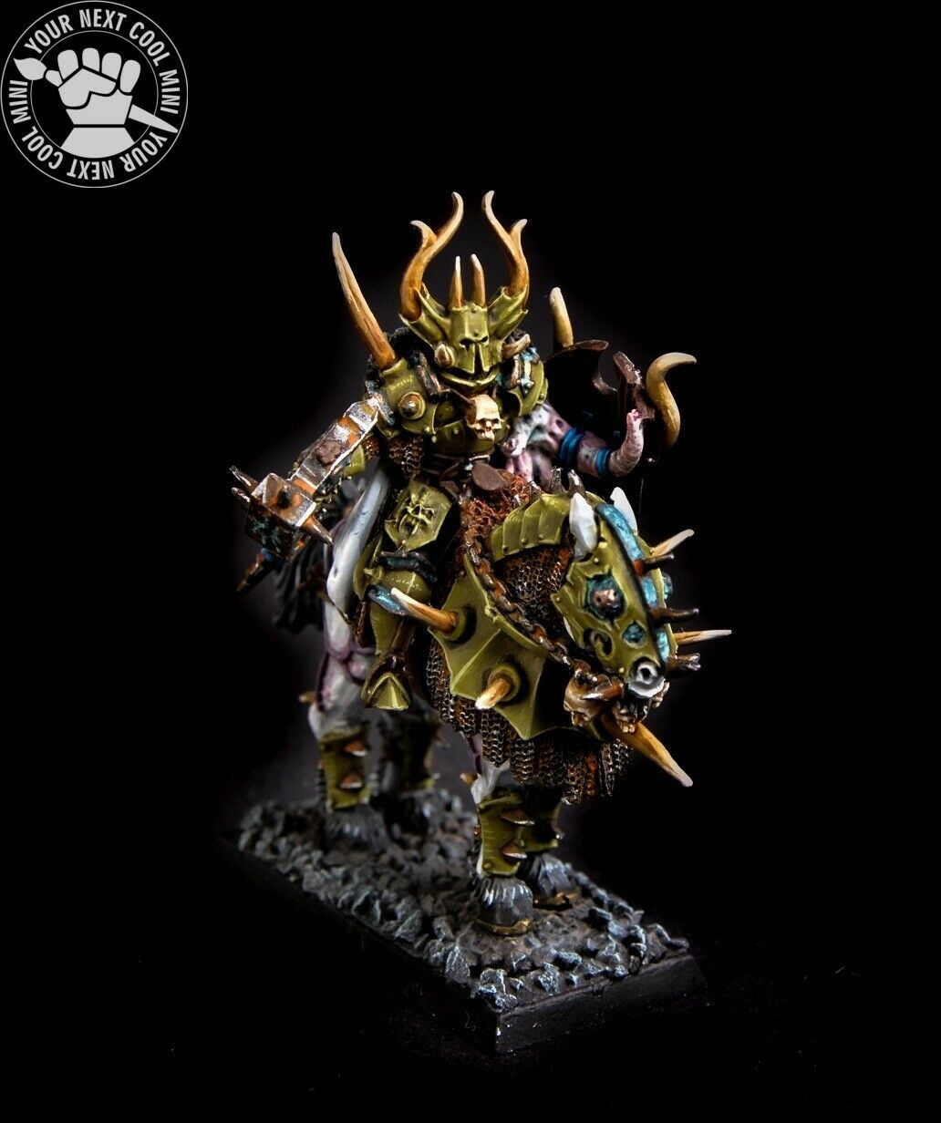 Warhammer FB AoS T9A, Chaos Lord on Daemonic Mount
