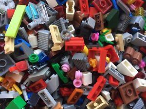 LEGO-250g-of-SMALL-Bricks-Plates-Cones-Parts-400-Pieces-Bundle-Job-Lot