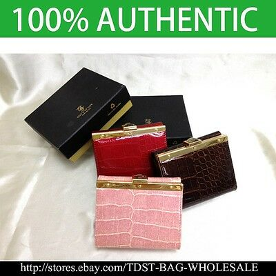 OMNIA Korea Crystal Ladies Wallet Leather Trifold Purse ID Card Coins Bag