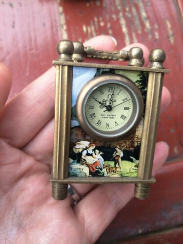 Collectible Beautifully Chinese cloisonne Handwork Mechanical Table Clock NR