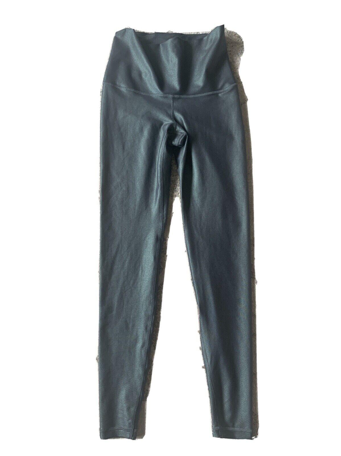old navy go dry leggings green Metallic size small