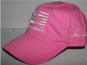 Team-Saleen-Hat-in-Pink-with-Metallic-Silver-Logo