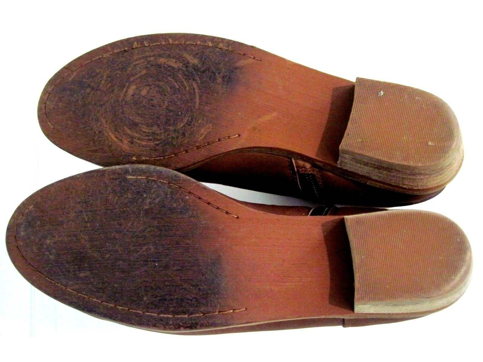 SOFTWALK Tan Leather Leather Leather Rancho Double Strap Buckle RANCHO Side Zip Bootie Size 8 N c63cde