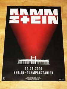 RAMMSTEIN-KONZERT-POSTER-2019-BERLIN-OLYMPIASTADION-ORIGINAL-PLAKAT-NEU