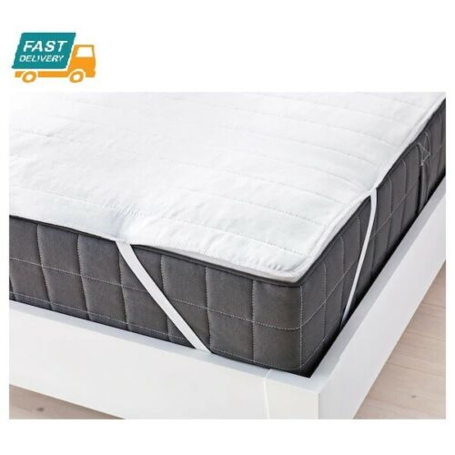 IKEA ANGSVIDE Quilted Mattress Protector Cover Single Double King Super Pillow
