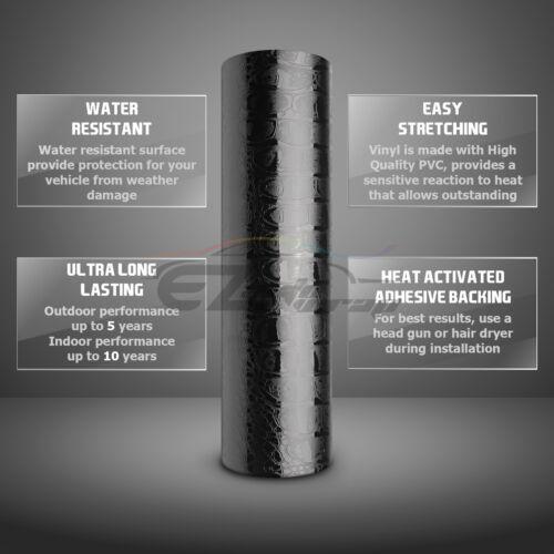 *Premium 2D Gloss Alligator Skin Reptiles Vinyl Wrap Sticker Decal Bubble Free