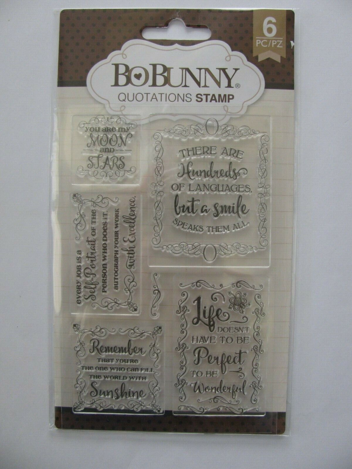 Bo Bunny Doodle Blooms Clear Cling  11 Piece Stamp Set #12105441