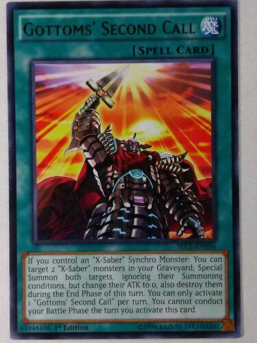 Gottoms/' Second Call  SECE-EN056 1st Ed Rare NM//Mint Yu-Gi-Oh