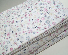 Cuddl Duds Heavyweight Multi Colors Purple Flowers Floral Flannel Twin Sheet Set