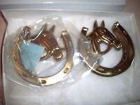 In Box 2 Solid Brass Horse Head Door Knocker Decor Home Knob Ringer Hardware