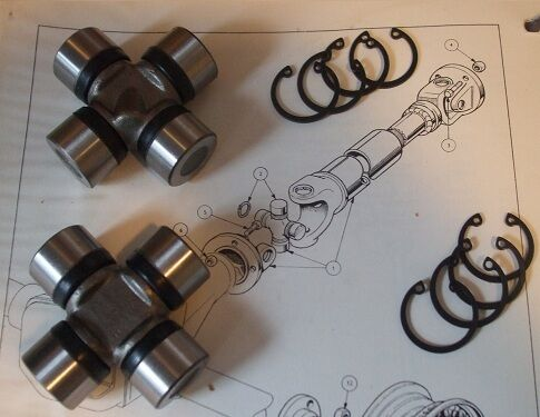 1963-68 HUMBER Sceptre UNIVERSAL JOINTS UJ Joint x2