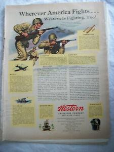VTG-1943-Orig-Magazine-Ad-Wester-Cartridge-Co-America-Fights-Western-Too