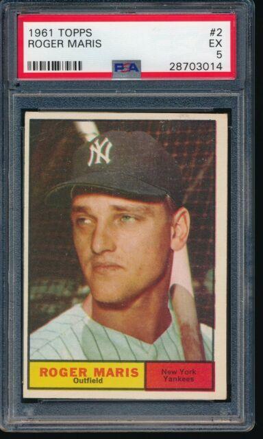 1961 Topps #2 Roger Maris New York Yankees EX PSA 5 Newest Holder HOF