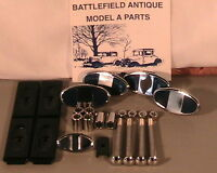 1930-1931 Model A Ford Stainless Steel & Chrome Bumper Hardware Set