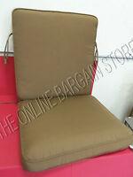Ballard Designs Fast Dry Highback Chair Outdoor Cushion Sunbrella 40x21 Brown