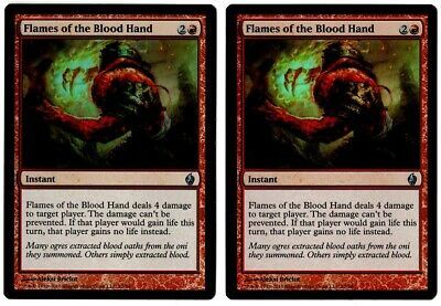 MTG 1x FLAMES OF THE BLOOD HAND BoK *Top Damage NM*