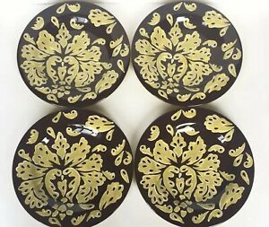 Laurie-Gates-The-Casual-Collection-Salad-Luncheon-Plates-Set-Of-4-Green-Damask