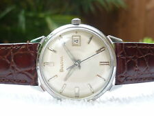 Vintage Bulova manual wind 17 Jewels Steel Fully serviced Swiss made Watch