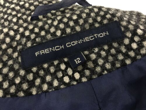 Condition Breasted Coat Double Connection Wool Great Women's French Uk12 nfq8wxRtTA
