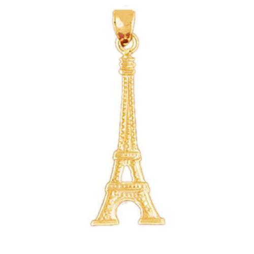 made in USA 14k or Jaune Tour Eiffel Pendentif//Charme