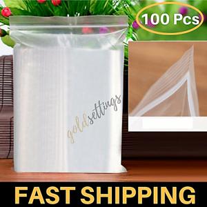 100 Ziplock Clear Bags Sealing Plastic Craft Jewelry Zip Lock Bag Small 7x10CM