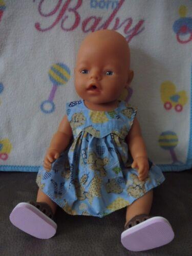 - Sommerkleid  und Sommer- Sandalen Kleid Zapf Creation Baby Born 43 cm