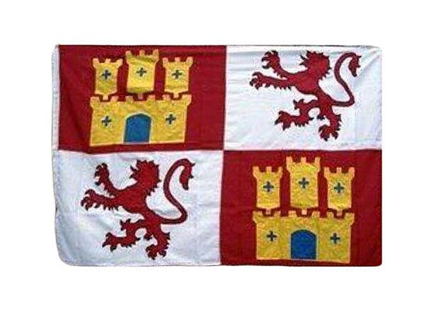 5x8 Embroiderot Lions and Castles Castile Lion Castil Leon Nylon Flag 5'x8' 300D