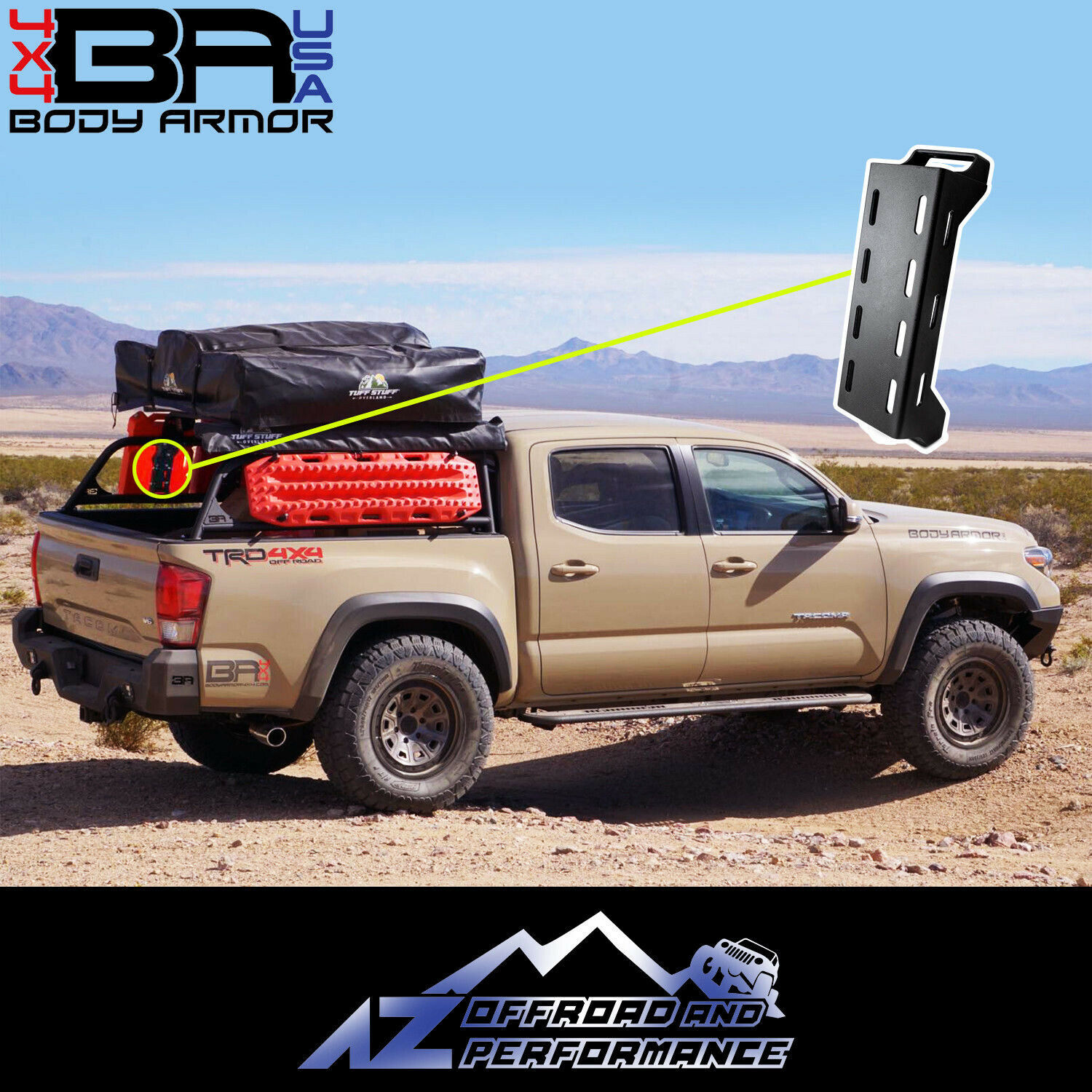 Body Armor 4x4 Overland Rack Accessory Mount For 2016 2021 Toyota Tacoma Tc 6126 For Sale Online