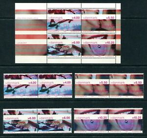 Below face N10 Denmark 2001 MNH s/s+8v Youth Culture