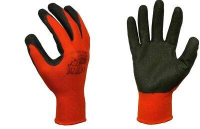 12 Paar Redworker® Größe:11 //XXL Montagehandschuhe rot EN 388,420-CAT.2