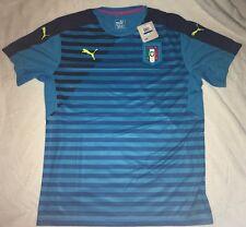 Puma Italy Italia FIGC UEFA Euro 2016 Soccer Training Jersey New Atomic Blue XL