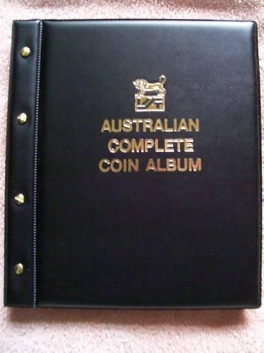 VST AUSTRALIAN COMPLETE COIN ALBUM BLACK COLOUR 1910 to 2016. PRINTED MINTAGES