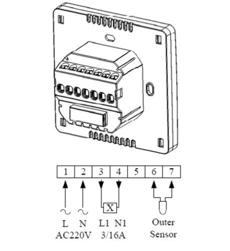 Digital Thermostat Raumthermostat Regler programmierbar weiss AUFPUTZ #857ap