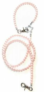 Fashionable-Pink-or-Black-Pearl-Lead-for-Small-Dogs-Decorative-Dog-Lead