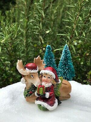 Miniature FAIRY GARDEN ~ Mini White Alpaca Llama with Blanket Figurine
