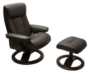 Magnificent Details About Hjellegjerde Scansit 110 Havana Leather Scan Sit Ergonomic Recliner Ottoman Ocoug Best Dining Table And Chair Ideas Images Ocougorg