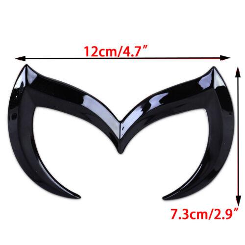 For Mazda 3D Metal Black Bat Batman Front Rear M Emblem Logo Badge Sticker Decal