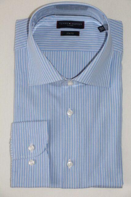 TOMMY HILFIGER BUSINESSHEMD, Gr. 42, Slim Fit, Medium Blue