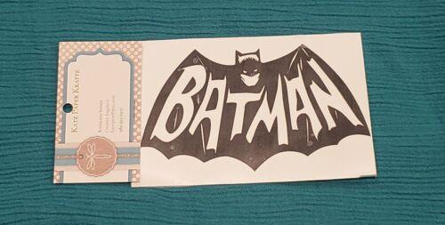 """Handcrafted Classic Batman Logo Black Vinyl Decal Outdoor//Indoor NEW 5.5/"""" BAM!"""